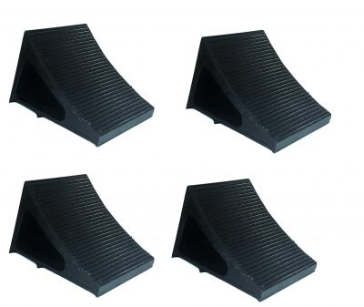 Elasco Wheel Chocks Black 4 Pack