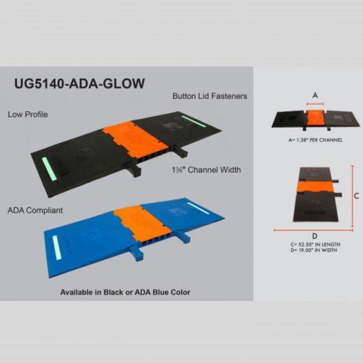 Elasco-Products-UltraGuard-Cable-Protector-UG5140-ADA-BLUE-GLOW-2