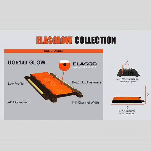 Elasco-Products-UltraGuard-Cable-Protector-UG5140-GLOW-YEL-ORG-4
