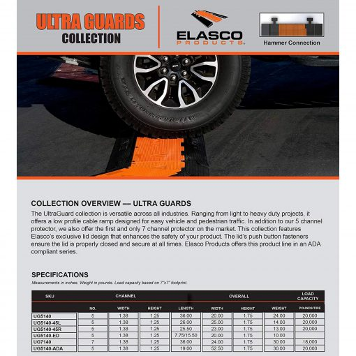 Elasco-Products-UltraGuard-Cable-Protector-UG5140-YEL-ORG-2