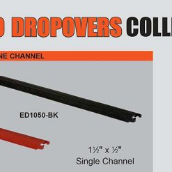 Elasco ED BK Drop Over Cable Management Single Channel  Channel Width  Channel Height    BHVJ