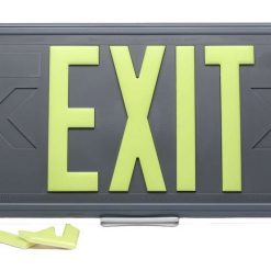 100 Feet EXIT Sign