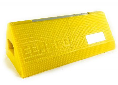 Elasco Products Aircraft Wheel Chock with High Visibility Reflectors and Glow in The Dark Strip Polyurethane Heavy Duty BGMFVC