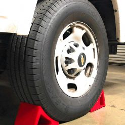Elasco Wheel Chock Weatherproof Outdoor Grade Polyurethane Better Than Rubber or Plastic Keeps Your Trailer or RV in BDSQXZK