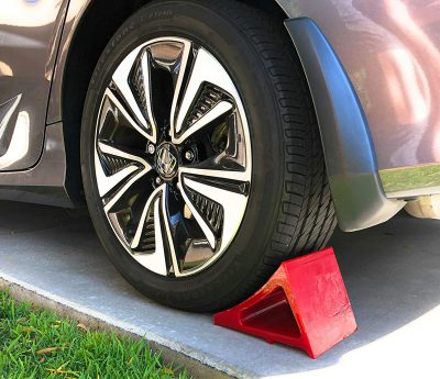 Elasco Wheel Chock Weatherproof Outdoor Grade Polyurethane Better Than Rubber or Plastic Keeps Your Trailer or RV in BDSTB