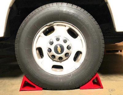 Elasco Wheel Chock Weatherproof Outdoor Grade Polyurethane Better Than Rubber or Plastic Keeps Your Trailer or RV in BDSVBP