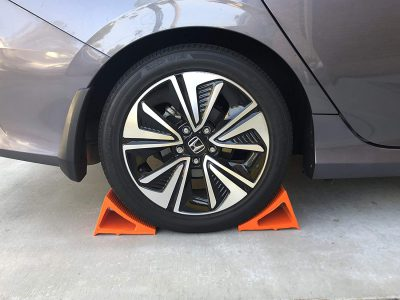 Elasco Wheel Chock Weatherproof Outdoor Grade Polyurethane Better Than Rubber or Plastic Keeps Your Trailer or RV in BFYTKXLK