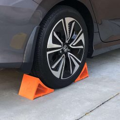 Elasco Wheel Chock Weatherproof Outdoor Grade Polyurethane Better Than Rubber or Plastic Keeps Your Trailer or RV in BFYWSN
