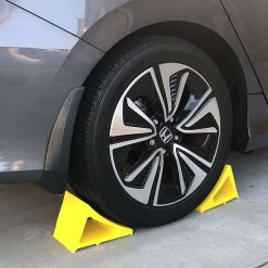 Elasco Wheel Chock Weatherproof Outdoor Grade Polyurethane Better Than Rubber or Plastic Keeps Your Trailer or RV in BFYXRFHC