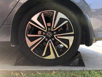 Elasco Wheel Chock Weatherproof Outdoor Grade Polyurethane Better Than Rubber or Plastic Keeps Your Trailer or RV in BGLYW
