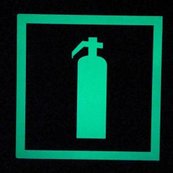 Fire Extinguisher Sign   Square Red with Glow in The Dark Border Emergency Fire Safety Sign BHQQJ