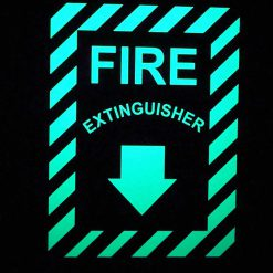 Fire Extinguisher with Down Arrow   Emergency Fire Safety Sign BHQCJKM