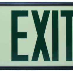 Glow in The Dark Emergency EXIT Signs Non Electric UL Listed Industrial Grade Photo Luminescent  Feet Green Blac BHLMYDP