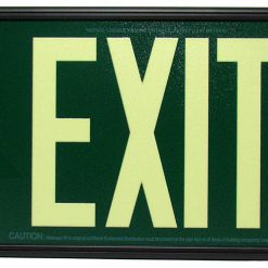 Glow in The Dark Emergency EXIT Signs Non Electric UL Listed Industrial Grade PhotoLuminescent Green  Feet G BHLPZWX