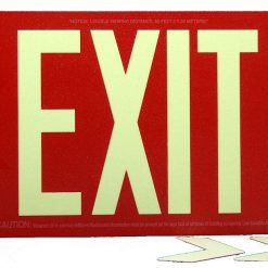 Glow in The Dark Emergency EXIT Signs Non Electric UL Listed Industrial Grade PhotoLuminescent Red  Feet R S BHLKDDC