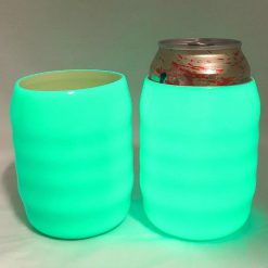Glow in the Dark Koozie Can Cooler Sleeve for Beer Soft Drink Bright Green Glow  BGDCYY