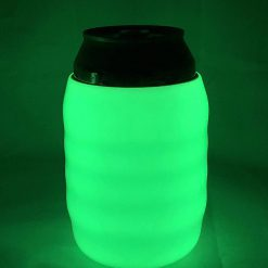 Glow in the Dark Koozie Can Cooler Sleeve for Beer Soft Drink Bright Green Glow BGDDGWJT