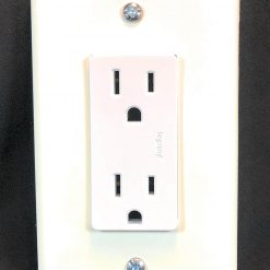 Glow in the Dark Safety  Gang Wall Cover Plate White Plastic Standard Size for Single Rocker SwitchDecoraGFCI Dev BCWBVPJ