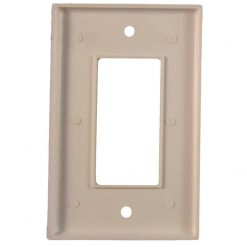 Glow in the Dark Safety  Gang Wall Cover Plate White Plastic Standard Size for Single Rocker SwitchDecoraGFCI Dev BDQGVT