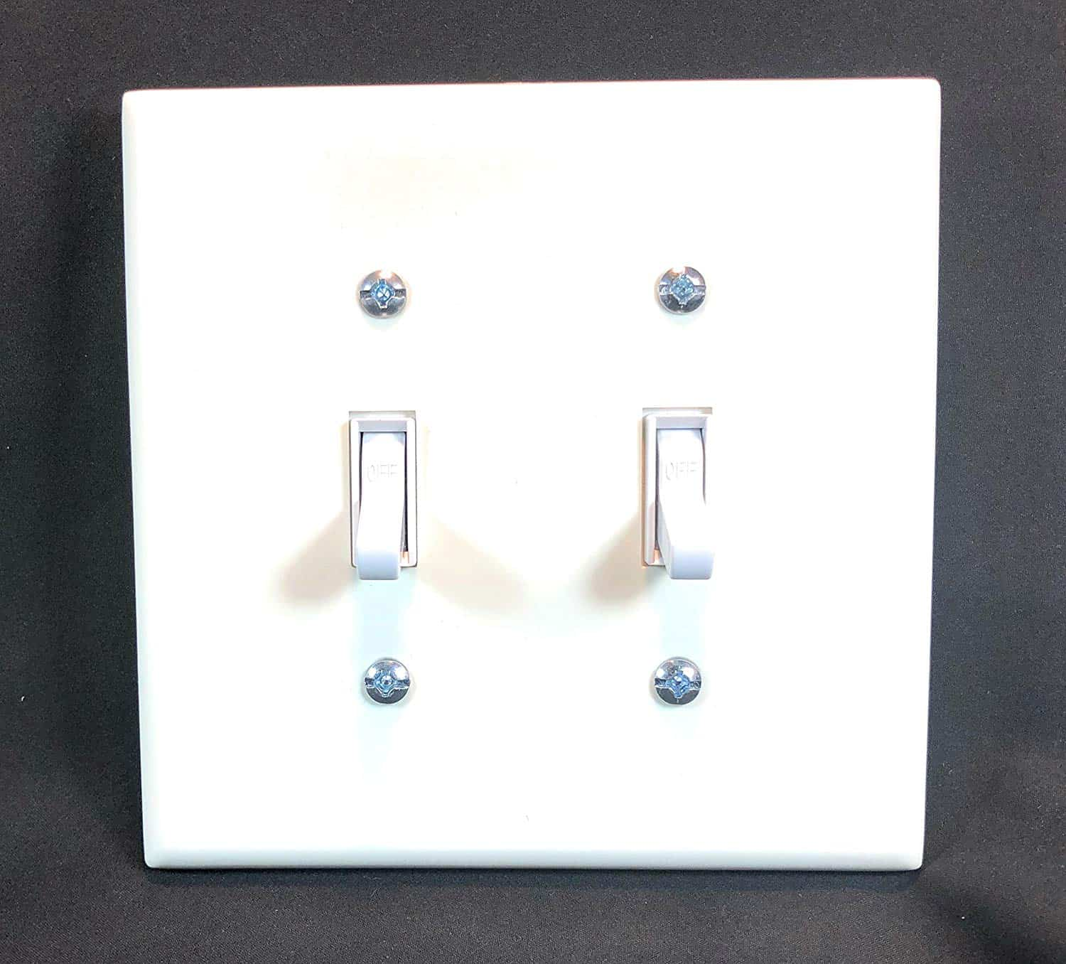 Wall Cover Plate 2 Gang White Plastic 1 Pack Cable